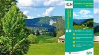 La carte IGN des Grandes Traversées du Jura